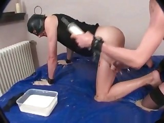 Enema for a scat loving babe